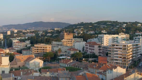 Cannes City and The Clock Tower