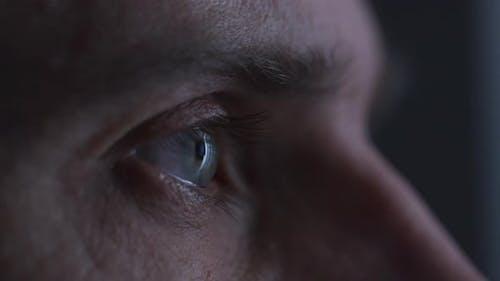 Nahaufnahme fokussierter Augen