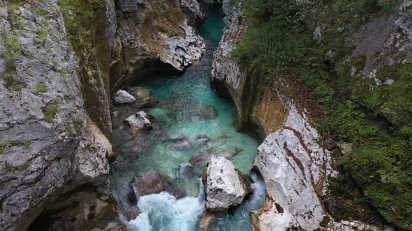 Thumbnail for Flight above River in the Triglav National Park