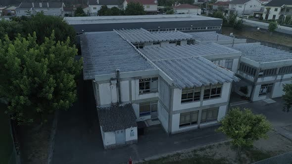 School with Asbestos Roof