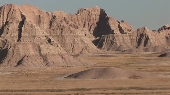 Thumbnail for Badlands in Summer Geology Bad Lands Wall Erosion in South Dakota