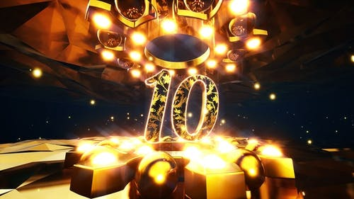 Gold Ornament Countdown Pack