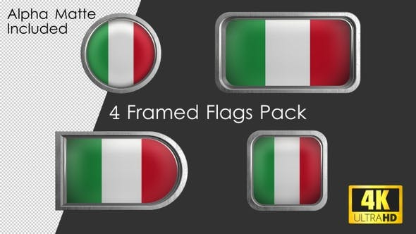 Thumbnail for Framed Italy Flag Pack