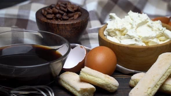 Thumbnail for Frame Made of Ingredients for Making Traditional Italian Dessert Tiramisu