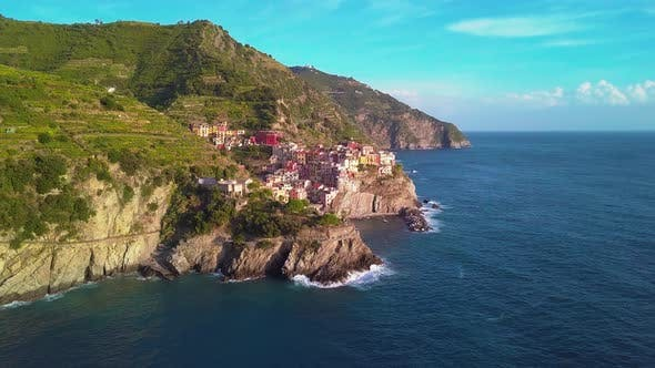 Thumbnail for Aerial View of Cinque Terre, Five Lands