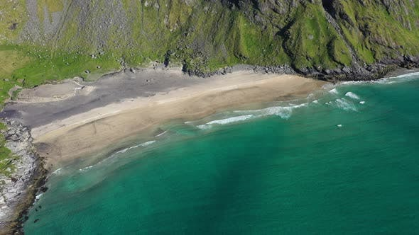 Kvalvika beach on the Lofoten Islands Norway