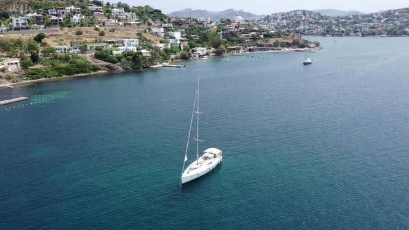 Thumbnail for Aerial view of Sailboat.