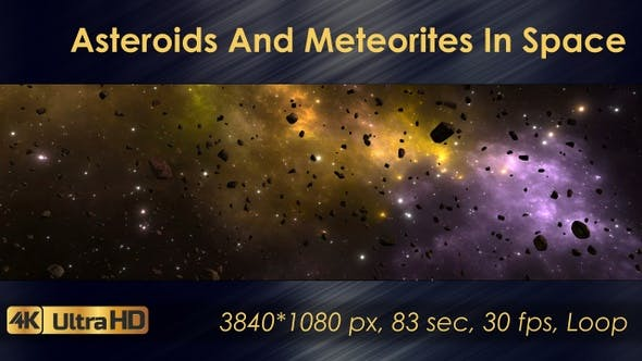 Thumbnail for Asteroids And Meteorites In Space