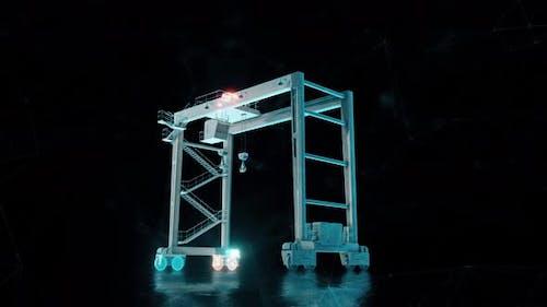 Factory Bridge Crane 4k