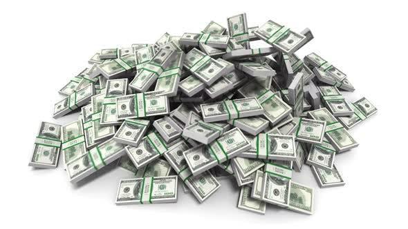 Dollars Falling Money Bills