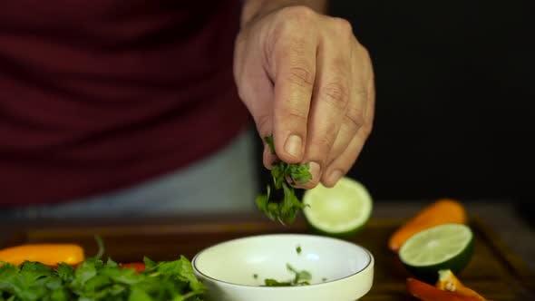 Chef adds Cilantro