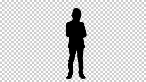 Silhouette Junge setzen, Alpha Channel