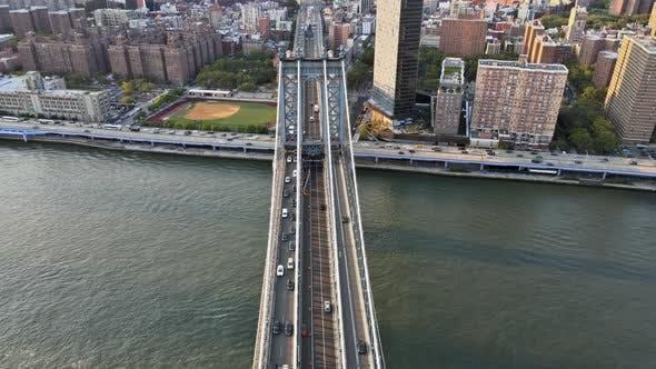 Manhattan Bridge Manhattan Skyline at New York City