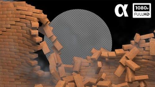 3D Brechen Brickwall
