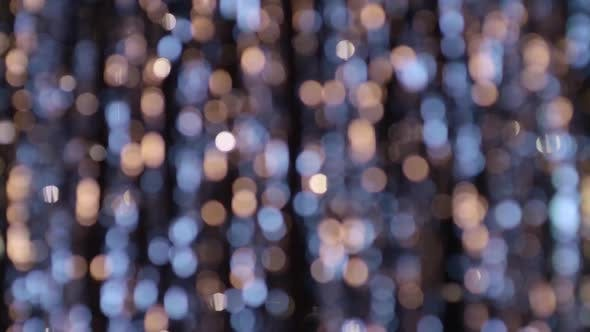 Thumbnail for Bokeh Out of Focus Golden, Blue Lights Defocused Abstract Background