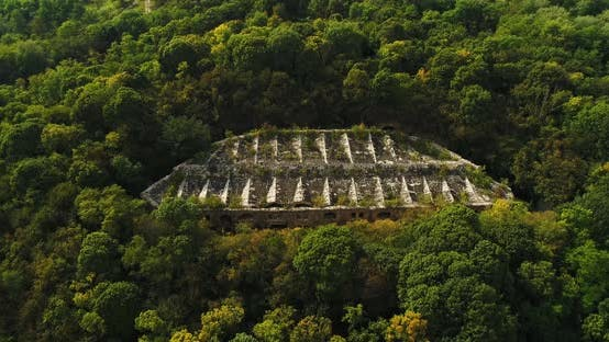 Thumbnail for Aerial View of Beautiful Ancient Fortress in Forest.