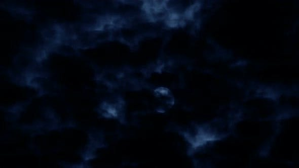 Thumbnail for Full Moon in Clouds