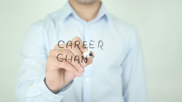 Cover Image for Career Change, Writing On Screen