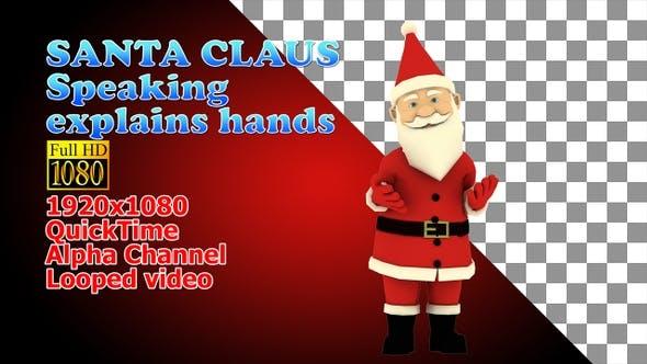Schöne Weihnachtsmann-Moves Hände