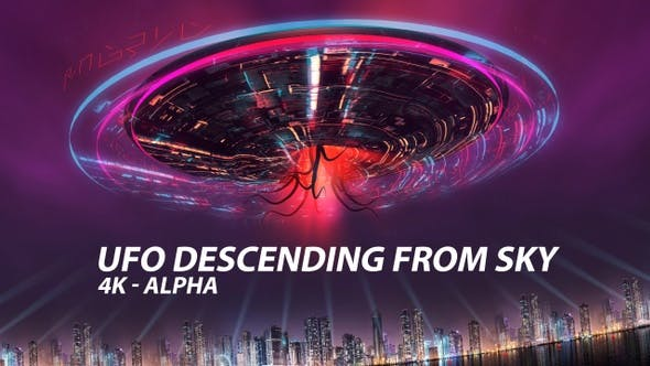 Thumbnail for UFO Descending From Sky