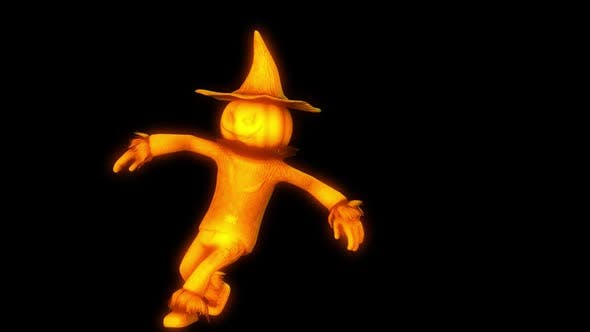 Thumbnail for Glowing dancing scarecrow with alpha