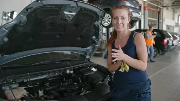 Thumbnail for Beautiful Female Mechanic