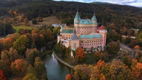 Aerial View of Bojnice Medieval Castle
