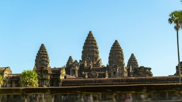 Angkor Wat Moving Zeitraffer in Siem Reap, Kambodscha