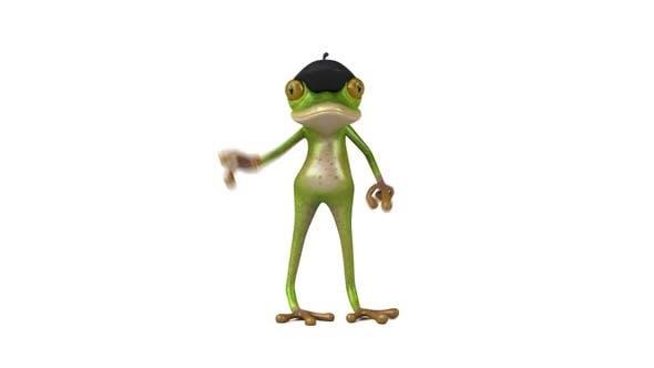 Thumbnail for Fun 3D cartoon french Frog dancing