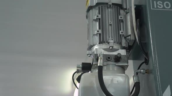 Engine Compressor At Service