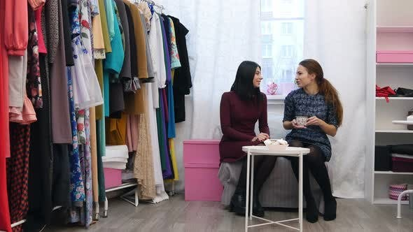 Thumbnail for Dressmaker Talking About New Collection To a Customer