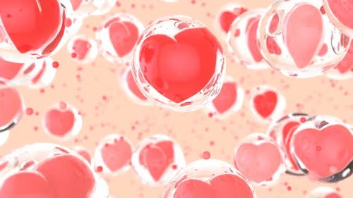 Abstract art background of love in bubbles