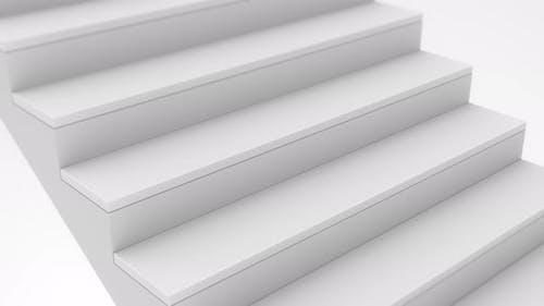 Staircase in white interior