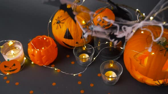 Thumbnail for Pumpkins, Candles and Halloween Decorations