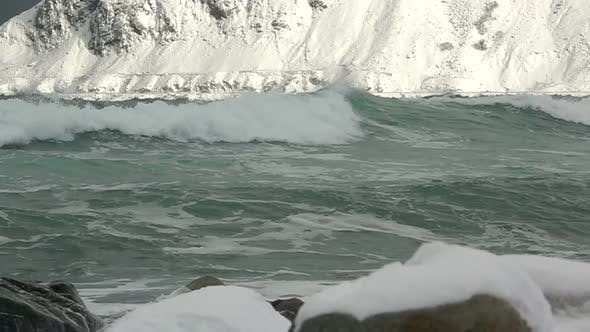 Surf Wave in the Winter Gulf