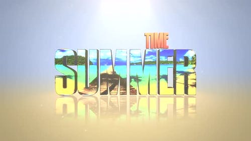 Text Summer Time with mirror effect
