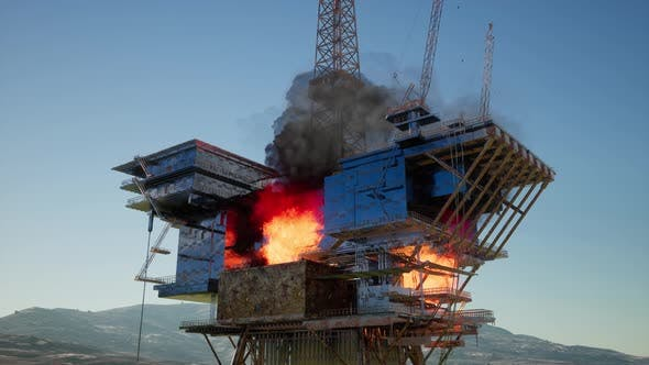 Thumbnail for Offshore Oil and Gas Fire Case or Emergency Case