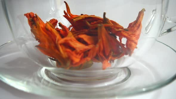 Flower tea from lily petals.