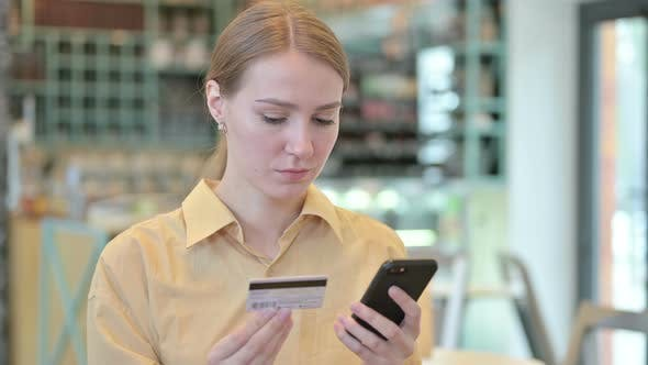 Thumbnail for Online Payment Failure of Young Woman on Smartphone