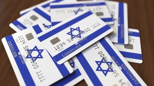 Thumbnail for Pile of Credit Cards with Flag of Israel