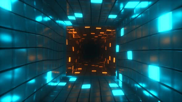 Thumbnail for Abstract Flying in Futuristic Corridor