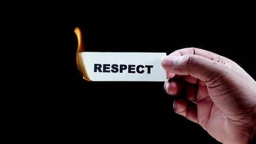 Burning Paper Writing Respect