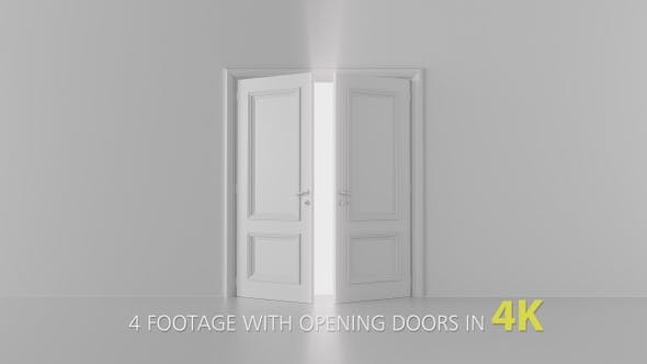 4 Footage With Opening Doors Pack 1