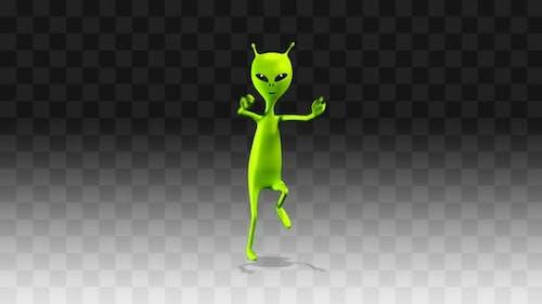 Alien dancing  funny long dance