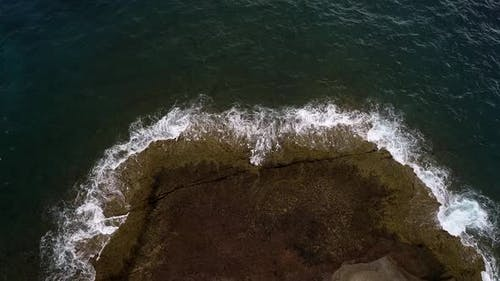 Atlantic Ocean Shore Cliffs of Playa de Los Morteros, Tenerife, Spain
