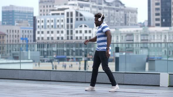 Thumbnail for Active Black Male Dancing Afrobeat Style in City