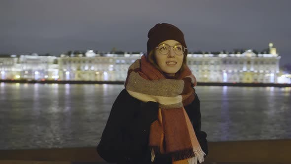 Thumbnail for Woman Enjoying View near River in City