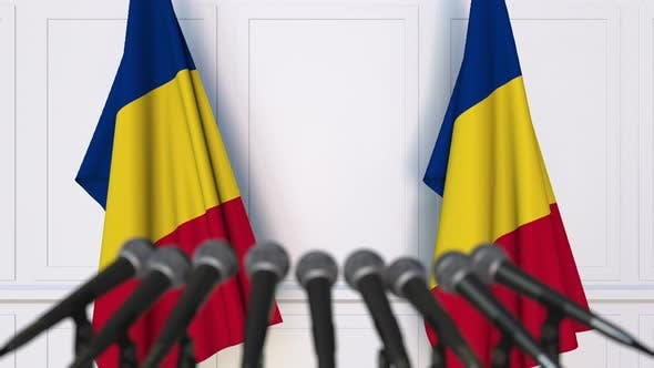 Thumbnail for Romanian Official Press Conference with Flags