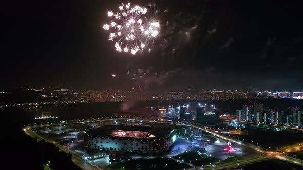 Thumbnail for Festive Fireworks over the Night City