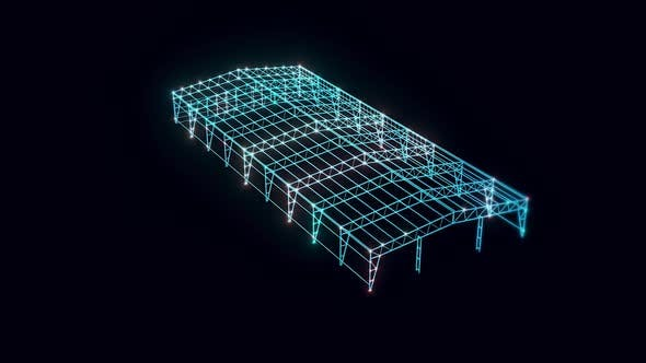 Metal Wire Construction Hologram Rotating Hd
